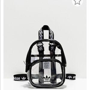 Adidas originals clear & black mini backpack bag